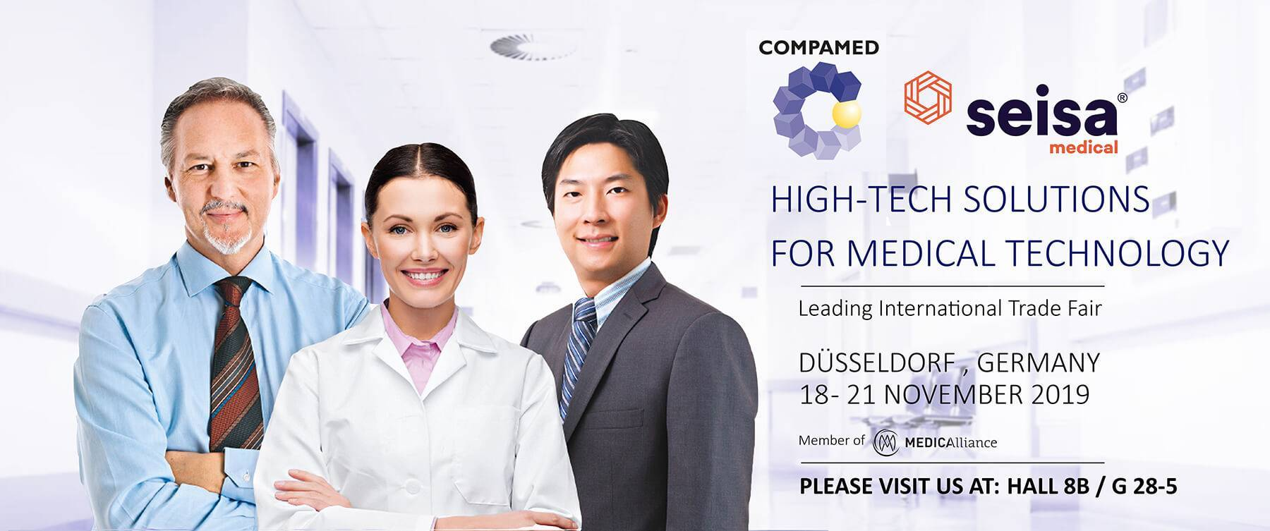 Seisa exhibiting at COMPAMED Düsseldorf Germany 2019