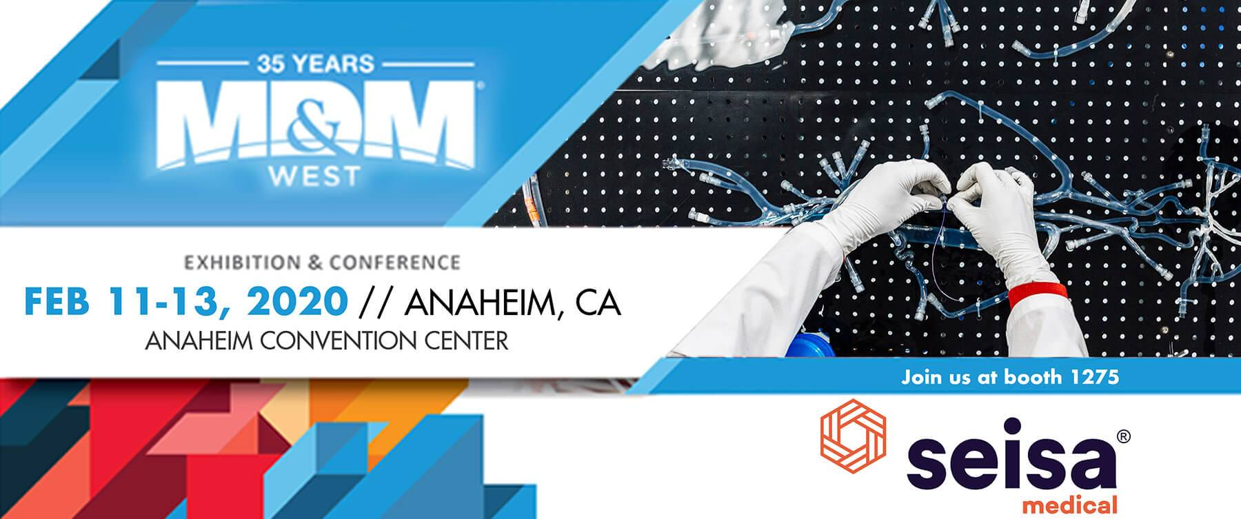 Seisa exhibiting in Anaheim MD&M West 2020